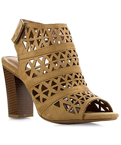 Womens Closure Blocked Sandals Booties product image
