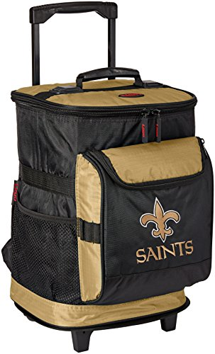 Nfl Cooler (New Orleans Saints 48-Can Rolling Cooler with Wheels and Backpack Straps)