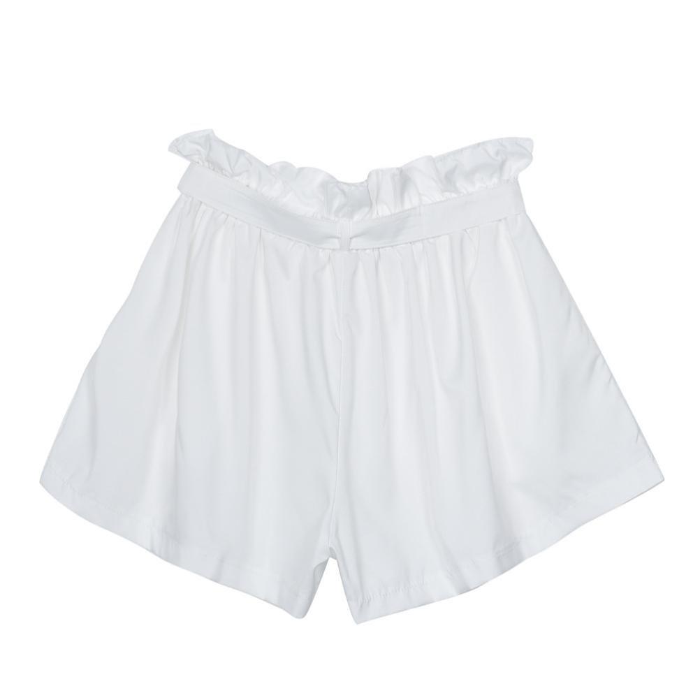 LuckyGirls Pantalones Mujer Cortos Verano Color Puro Volantes Cintura Alta  Suelto Casual Moda Pantalón con la Correa  Amazon.es  Hogar 5307c021db9e