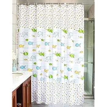 Amazon MangGou Fabric Shower CurtainFunny Kids Shower Curtain