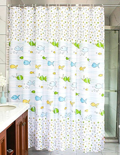 MangGou Fabric Shower CurtainFunny Kids Curtain LinerWaterproof Polyester Bathroom With