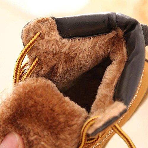 Saingace Krabbelschuhe boots 1 ~ 3 Alter Winter-Baby-Kind-Armee-Art-Martin Stiefel warme Schuhe Gelb