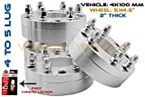 4 PC 4x100 To 5x114.3 Wheel Adapters Spacers 2'' Thick 4 Lug To 5 Lug Conversion Adapters Forged Aluminum Bolt On Kit