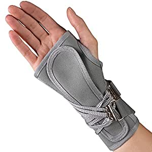 OTC ProChoice Cock-Up Wrist Splint, Gray, Right, Small