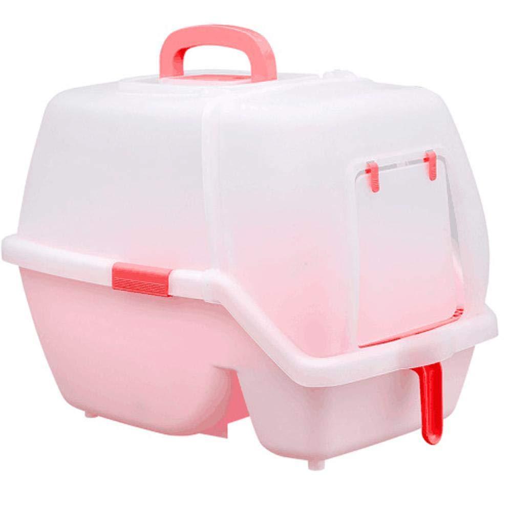 B Axiba Pet toilet Full enclosed cat litter basin cat toilet plastic material