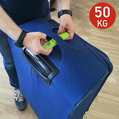 Digital Weight Indicator (Tatkraft Portable Digital Luggage Scale 50Kg/110Lbs Suitcase Travel Pocket Size Sound Indicator Result Fixation Green)