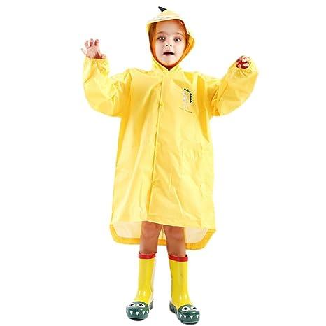 Niños Chubasquero Niños Niñas Traje de Lluvia Impermeable ...