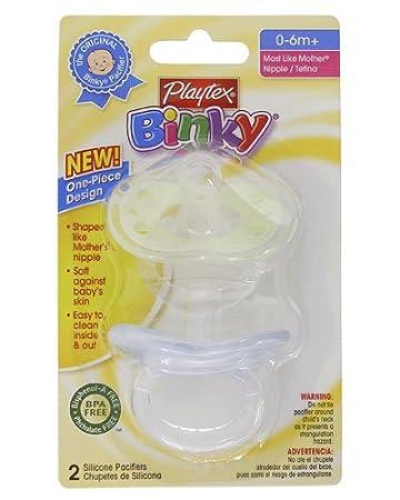 Amazon.com: Playtex bebé Binky más como Madre de una sola ...