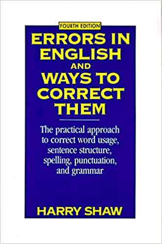 Errors in English and Ways to Correct Them Fourth Edition