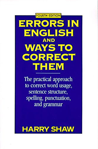 Errors in English and Ways to Correct Them: Fourth Edition