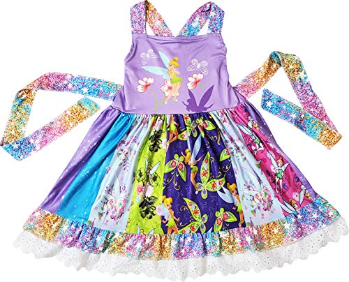 Boutique Baby Girls Disney Cartoon Character Fairy Tale Princess Dress 6-12M/2XS