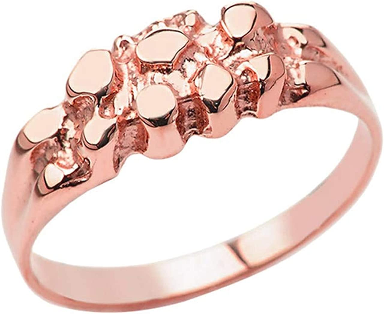 Certified Men's 10k Gold Pinky Nugget Ring