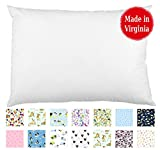 Toddler PILLOWCASE (14'' x 19'') - 100% Cotton Percale - Envelope Style - Made in Virginia (White)