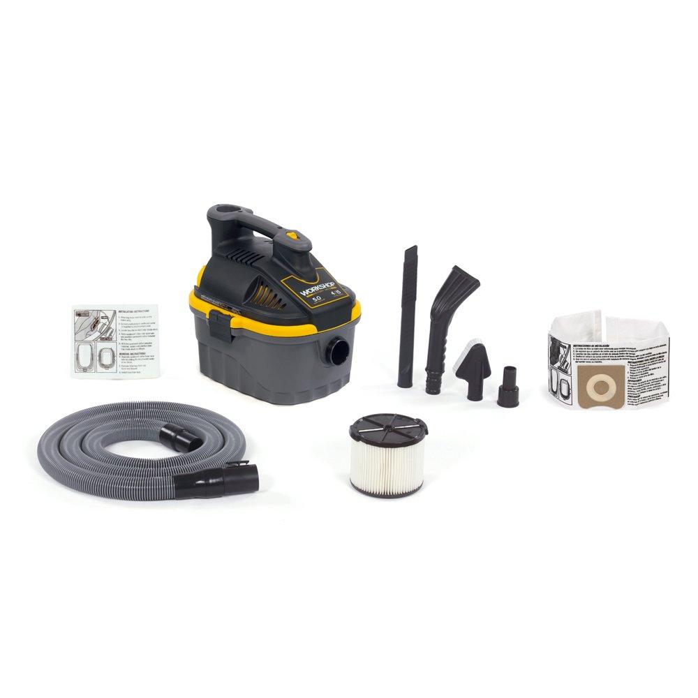 WORKSHOP Wet/Dry Vacs WS0401VA Portable Wet Dry Shop Vacuum for Auto with Vacuum Dust Collection Bag
