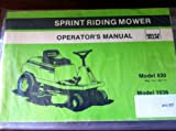 Allis Chalmers Sprint 830 1036 Riding Mower Operators Manual