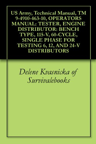 (US Army, Technical Manual, TM 9-4910-463-10, OPERATORS MANUAL: TESTER, ENGINE DISTRIBUTOR: BENCH TYPE, 115-V, 60-CYCLE, SINGLE PHASE FOR TESTING 6, 12, AND 24-V DISTRIBUTORS)