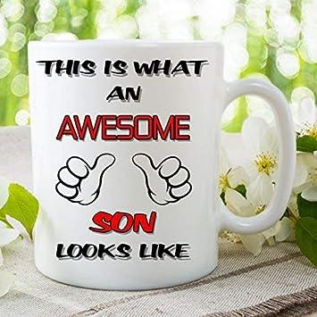Divertido de la novedad taza este es lo que un impresionante hijo LOOKS LIKE taza de