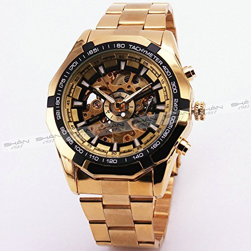 MaDong Men's Golden Automatic Mechancial Wrist Watch