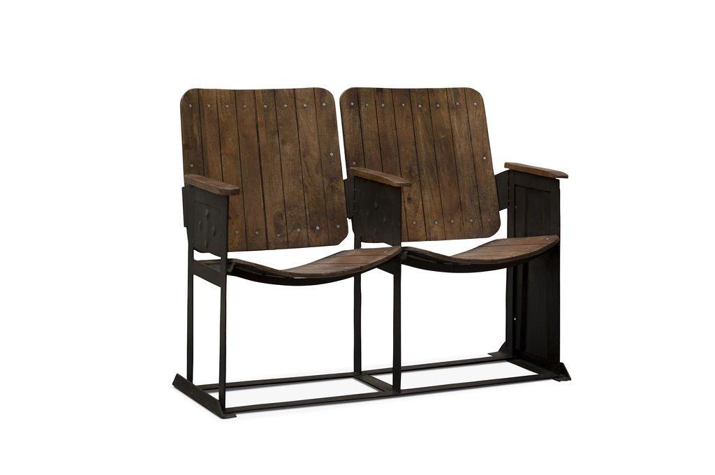 Pib sedie doppia sedia da teatro in stile vintage una panca