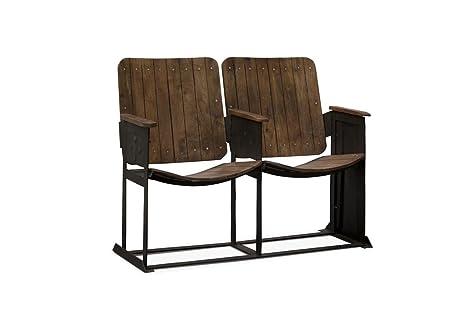 Sedie In Metallo Vintage : Pib sedie doppia sedia da teatro in stile vintage una panca