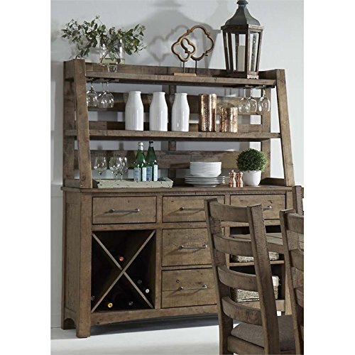 - Liberty Furniture Prescott Valley Wine Server and Hutch in Honey