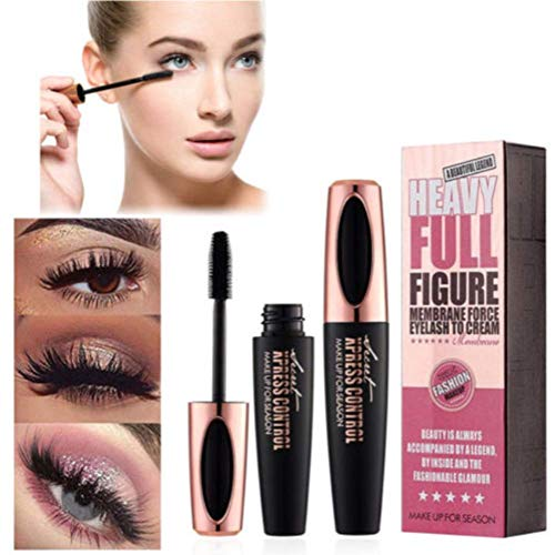SUNNYM 4D Makeup Eyelash Mascara Eye Lashes Makeup Silk Fiber Lash Mascara Black Thick Lengthening Eye Lashes (1PCS)