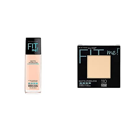 ed6c4887bf0 Buy Maybelline New York Fit Me Matte with Poreless Foundation, 115 Ivory,  30ml+Maybelline New York Fit Me Matte Poreless Powder, 110 Porcelain, 8.5g+  Online ...