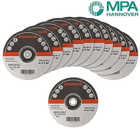 50 x Discos de corte 230 mm Metal de corte de acero ...