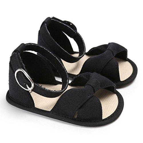 Igemy 1 Paar Baby Sandals Kinder Kinder Mädchen Soft Sole Krippe Kleinkind Neugeborene Schuhe Schwarz