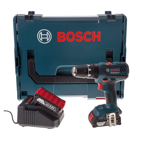 Bosch GSB18-2-LI 18V 2 x 2,0 Ah Li-Ion Kompakt-Kombi-Bohrer, 1 Stü ck, 06019E7170