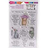STAMPENDOUS SSCM5003 Friend Wishes House Mouse Clear Stamp Set