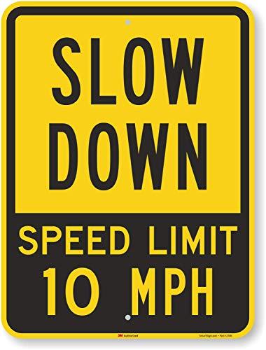 Aluminum Speed Limit Sign -