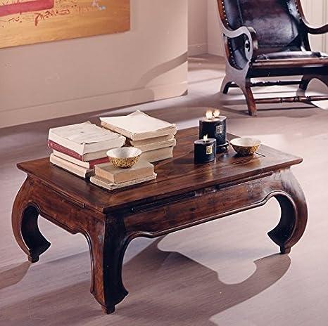 Tavolino Da Salotto Stile Etnico.Tavolino Da Salotto 60x90 Legno Massello Teak Con Finitura Color Noce Stile Etnico Prezzo Outlet Online