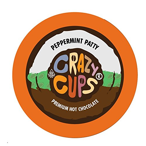 Crazy Cups Seasonal Hot Chocolate, Peppermint Patty Premium Hot Chocolate Hot Cocoa, Single Serve Cups for Keurig K Cup Brewers, 22 (Peppermint Hot Cocoa)