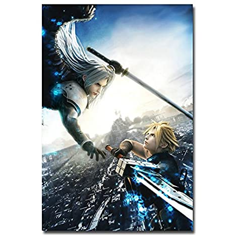 Amazon Com 13x20inch Cloud Vs Sephiroth Final Fantasy Ff 7