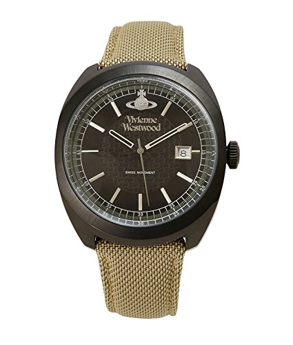 Vivienne Westwood watch BELSIZE black dial khaki leather Quartz VV136BKBG Men's parallel import goods]