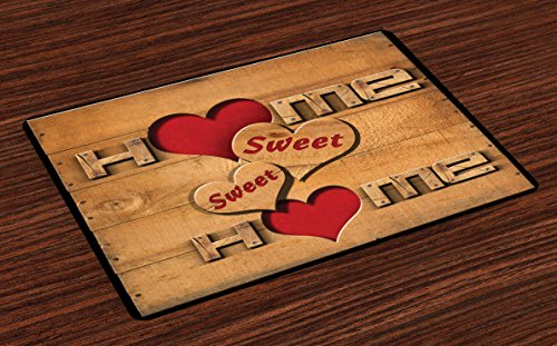 Ambesonne Home Sweet Home Place Mats Set of 4, Words for sale  Delivered anywhere in USA