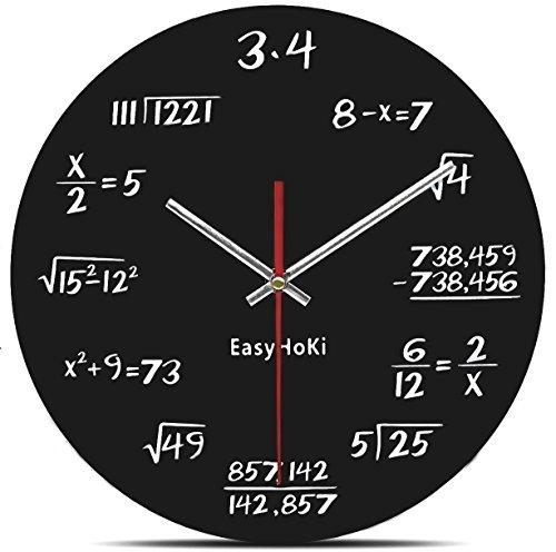 Teacher Time Watch Friends (EasyHoKi [Updated Version] Math Wall Clock Silent - Can you Calculate the Mathematical Formula?)