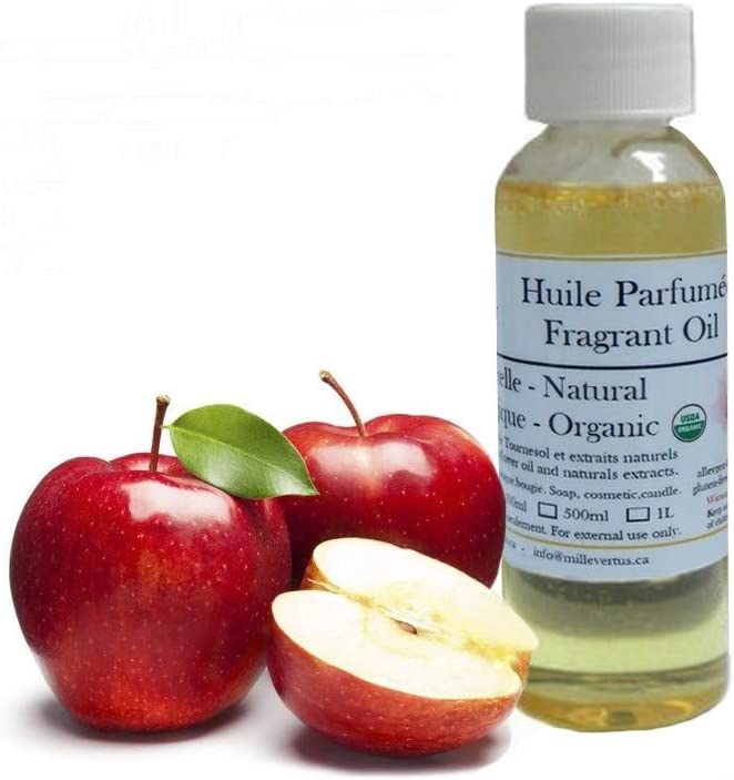 Apple Organic Natural Fragrant Oil Candle, Soap, Cosmetic Scented Oil (30ml)