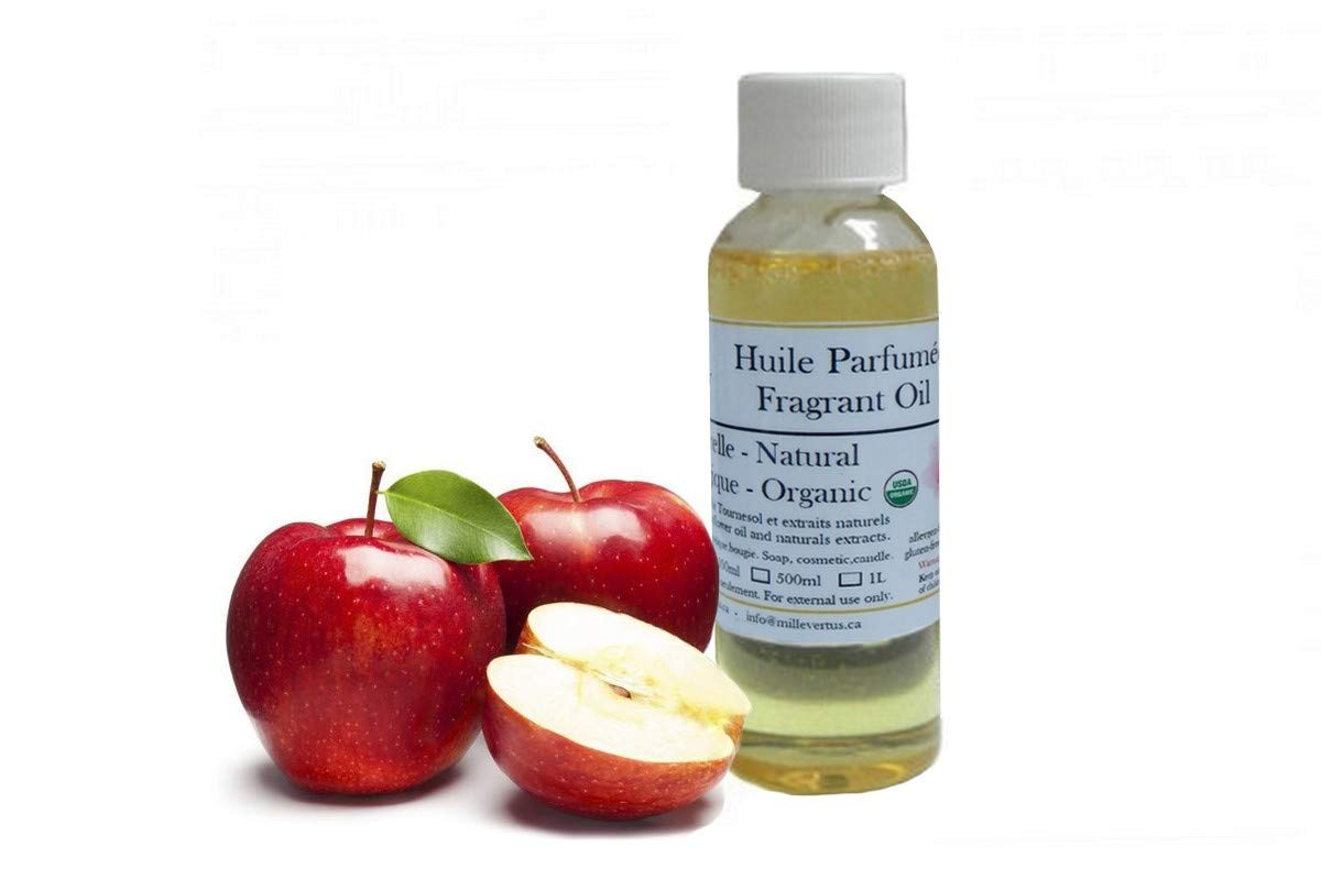 Apple Organic Natural Fragrant Oil Candle, Soap, Cosmetic Scented Oil (100ml)