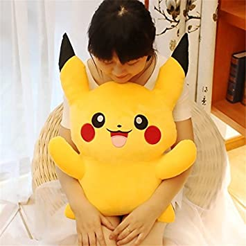 60cm Pikachu Plush Toys Kawaii Pokemon Kids Stuffed Toys Brinquedos Cartoon Pokemon Juguetes Pikachu Peluche Doll