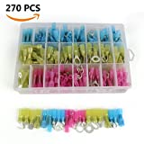 EZYKOO 270 PCS Heat Shrink Wire Connectors Kit Insulated Wire Terminals Set ...