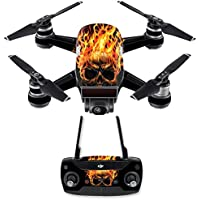 Skin for DJI Spark Mini Drone Combo - Hot Head  MightySkins Protective, Durable, and Unique Vinyl Decal wrap cover   Easy To Apply, Remove, and Change Styles   Made in the USA