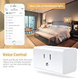 POTENCO Smart Socket Smart UK Plug Wifi Outlet Mini Socket Compatible with Alexa and Google Home with Timer Function