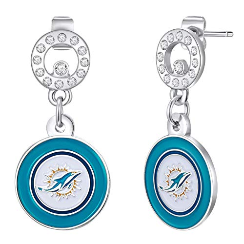 - NFL Miami Dolphins Circle Post Earrings