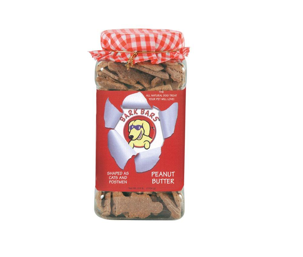 Bark Bars Plastic Canister Peanut Butter Pet Treat, 2.5-Pound