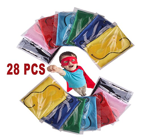 [Child Superhero Costume, Cape and Mask Set for Kids, Birthday Party DIY Children] (Diy Family Costumes)