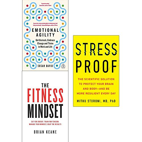 Emotional agility, fitness mindset and stress proof [hardcover] 3 books collection set
