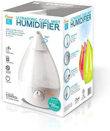 51lvLgpCrAL. AC - Crane Ultrasonic Cool Mist Humidifier, Filter-Free, 1 Gallon, For Home Bedroom Baby Nursery And Office, White