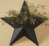 14″ Black Western Star Wall Pocket Decoration